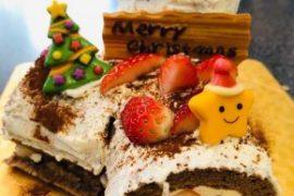 クリスマスケーキ教室開催!ホワイト☆ブッシュ・ド・ノエル編